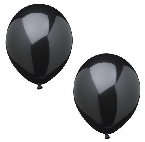 Luftballonset uni schwarz
