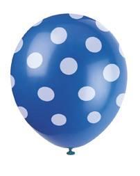 Luftballons Punkte blau
