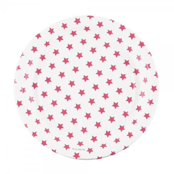 Teller pink Sterne