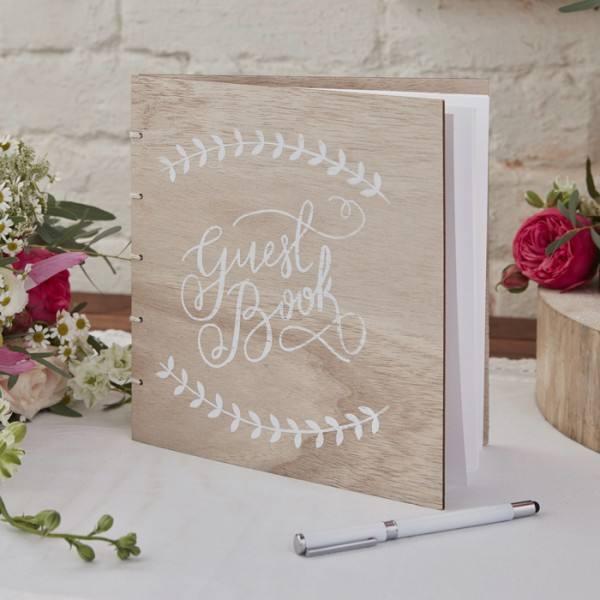 Boho Gästebuch Holz