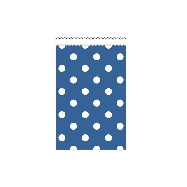 Papiertüten klein blau Punkte