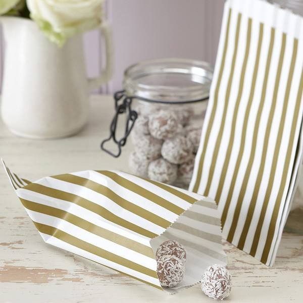 Candytütenset gold Streifen
