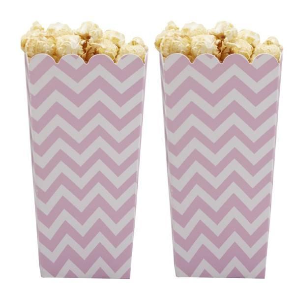 Chevron Divine Popcornbox rosa