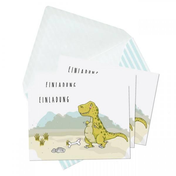 Krima & Isa - Einladungsset Dino
