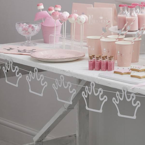 Princess Party Girlande Kronen