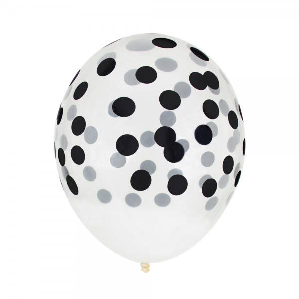 Little Luftballon Konfetti schwarz
