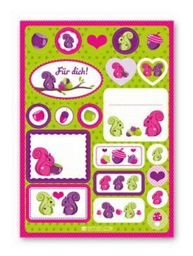 Sticker Eichhörnchen