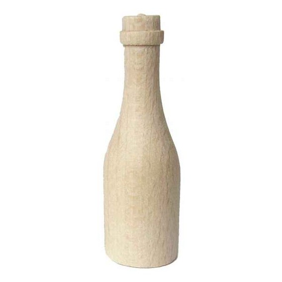 Holzflasche natur 5,5 cm