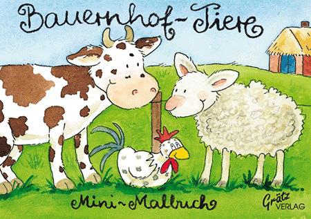 Malbuch Bauernhoftiere