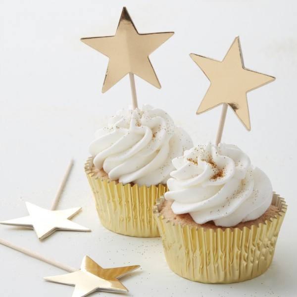 Metallic Star - Topper Sterne gold
