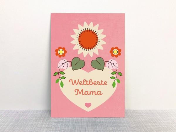 Monimari Postkarte Weltbeste Mama