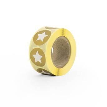 Aufkleber klein Stern gold mit weiss