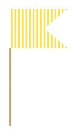 Fähnchen gelb