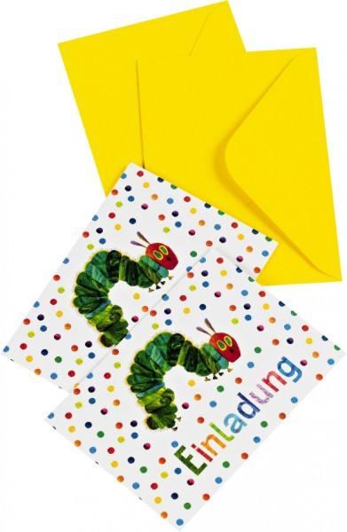 Raupe Nimmersatt Einladungskarten