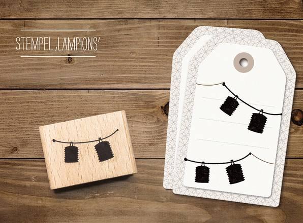cats - Stempel Lampions