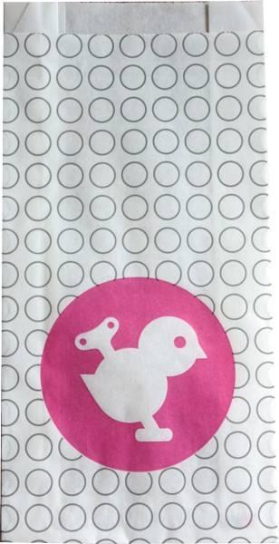 Papiertüten Piepmatz pink
