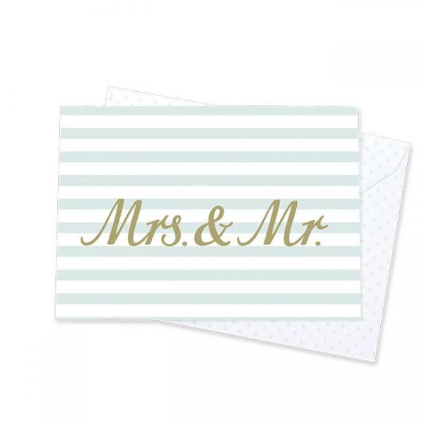 Krima & Isa - Klappkarte Mr & Mrs