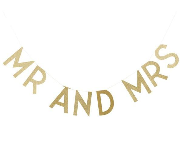 Pastel Perfection - Girlande Mr and Mrs