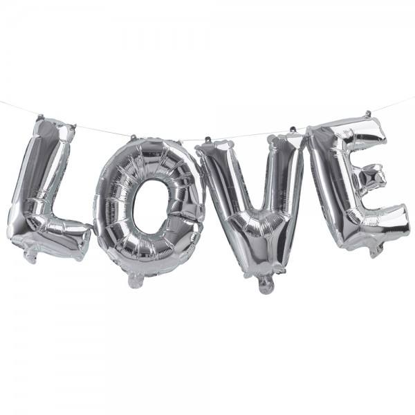 Pick & Mix- Ballongirlande Love silber
