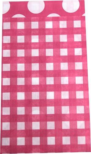 Papier Tüten Karo/Punkte pink